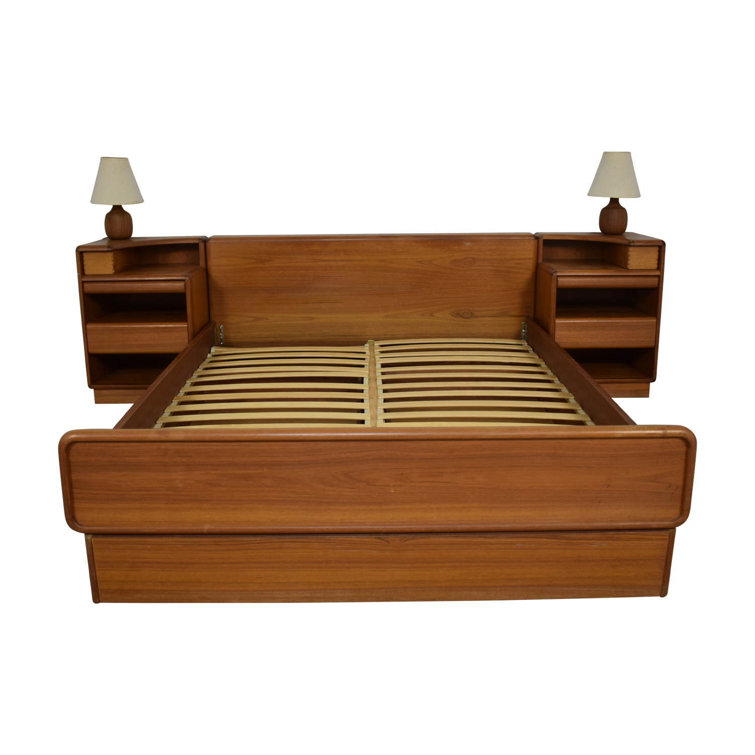 buy Brouer Queen Bed with Matching Side Tables and Lamps Brouer