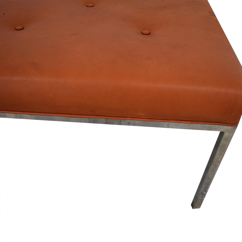 Custom Modern Orange Ottoman Chairs