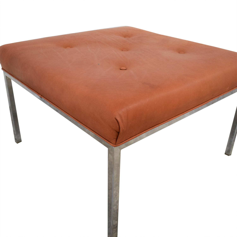 Custom Modern Orange Ottoman price
