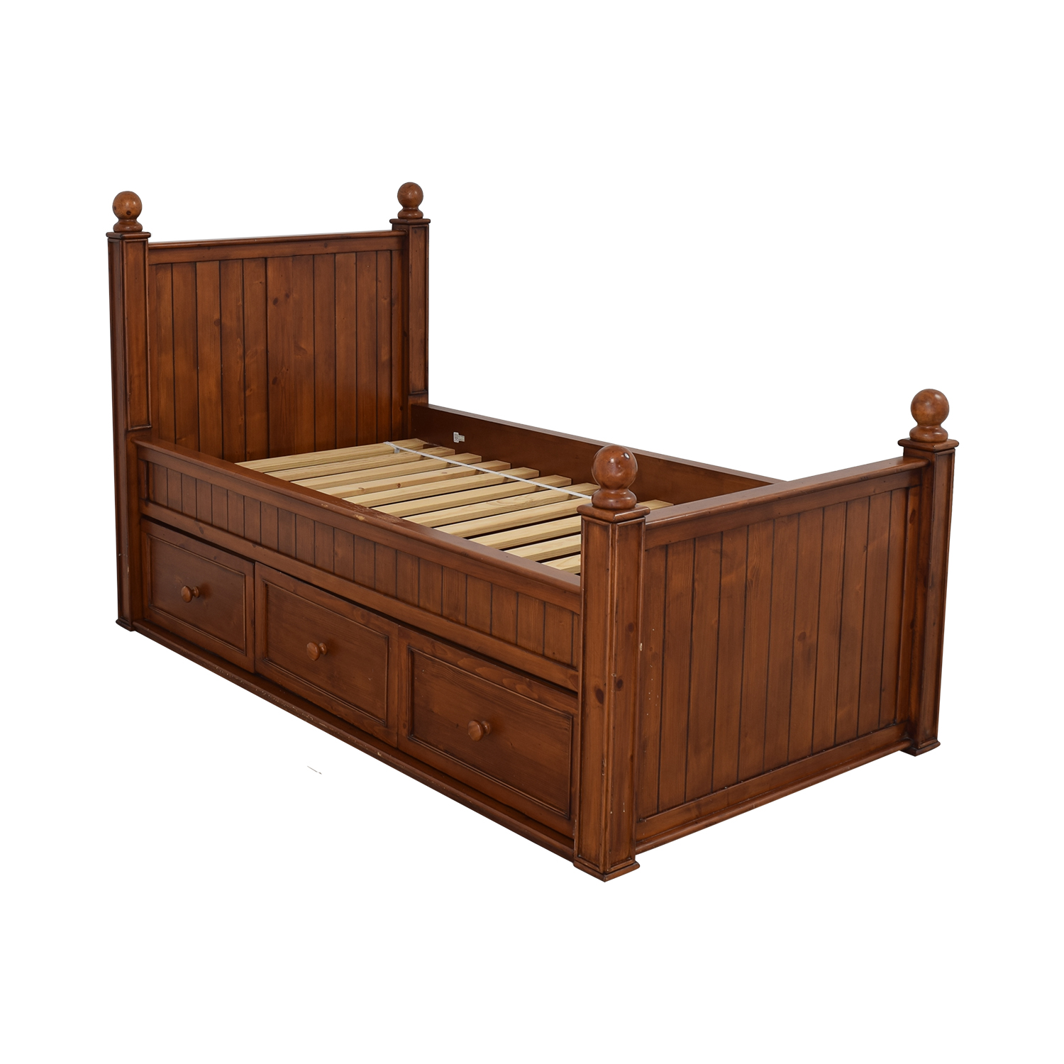 77% OFF - Pottery Barn Kids Pottery Barn Kids Twin Bed with Storage / Beds