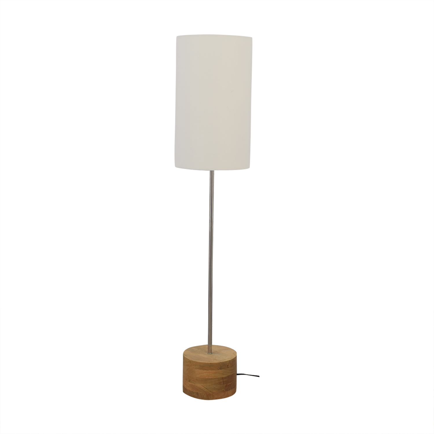 Crate & Barrel Crate & Barrel Tribeca Floor Lamp white & brown
