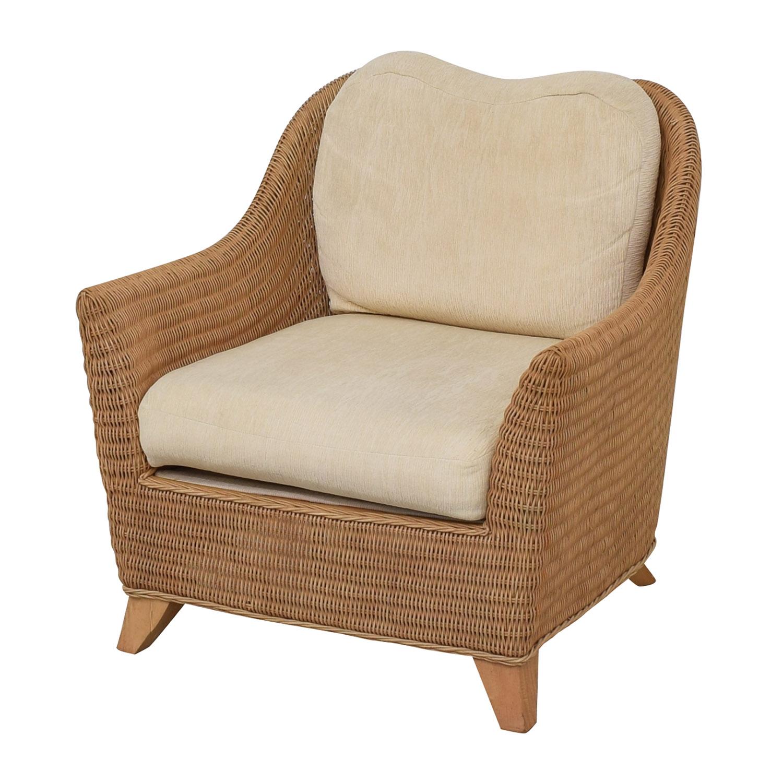 Macy's Macy's Whitecraft Rattan Armchair discount