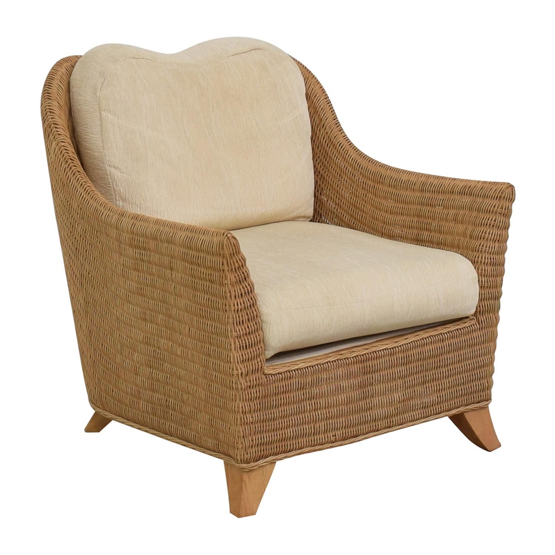 Macy's Macy's Whitecraft Rattan Armchair dimensions