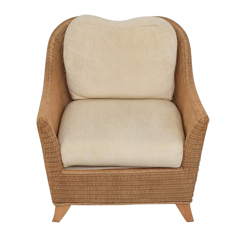 shop Macy's Whitecraft Rattan Armchair Macy's Accent Chairs