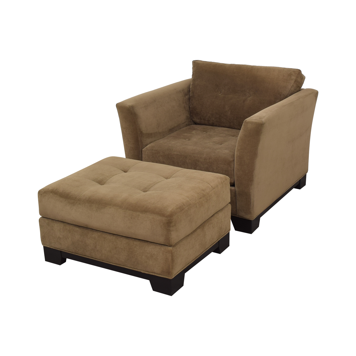 Macy's Macy's Jonathan Louis Armchair with Ottoman dimensions