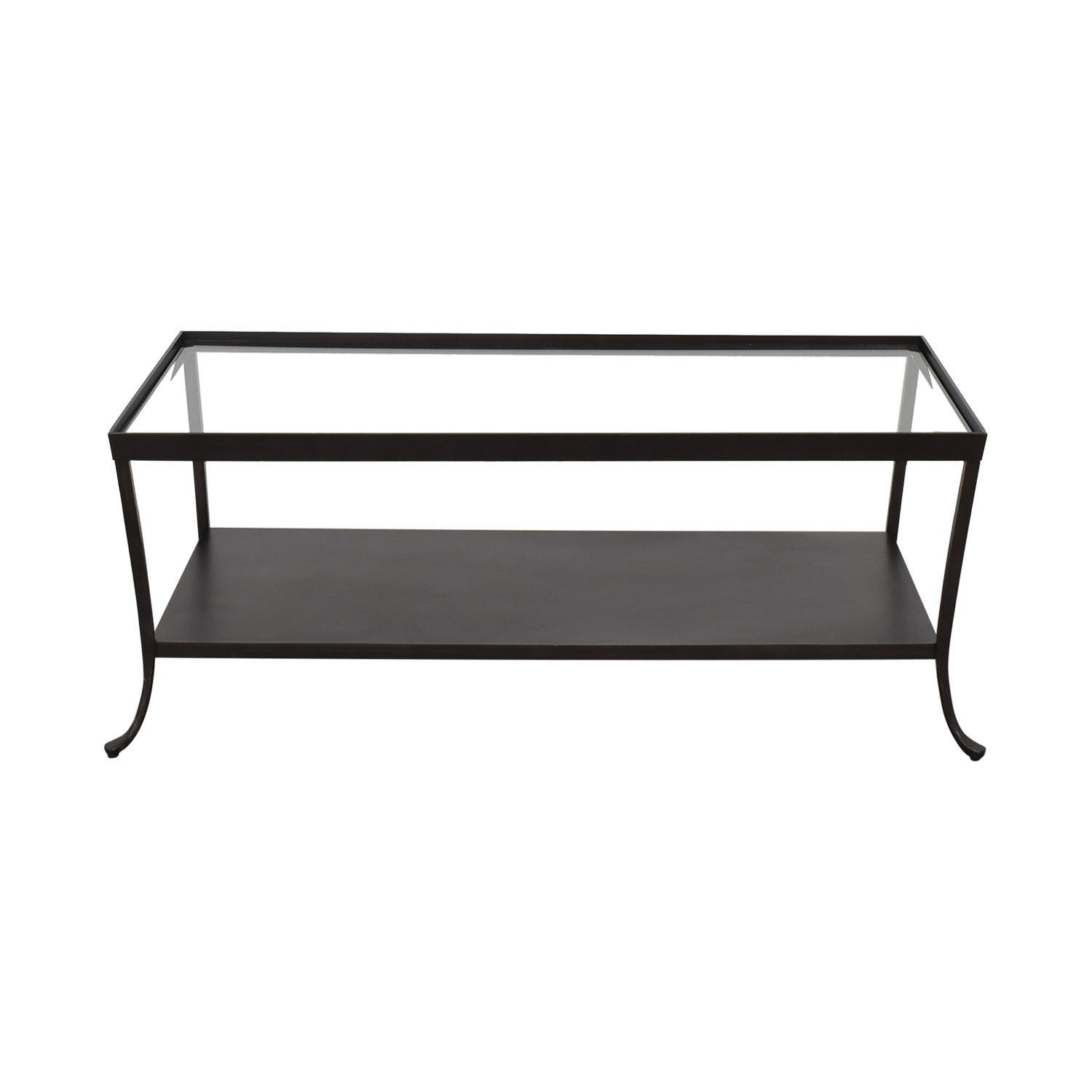 Crate & Barrel Crate & Barrel Transparent Coffee Table second hand