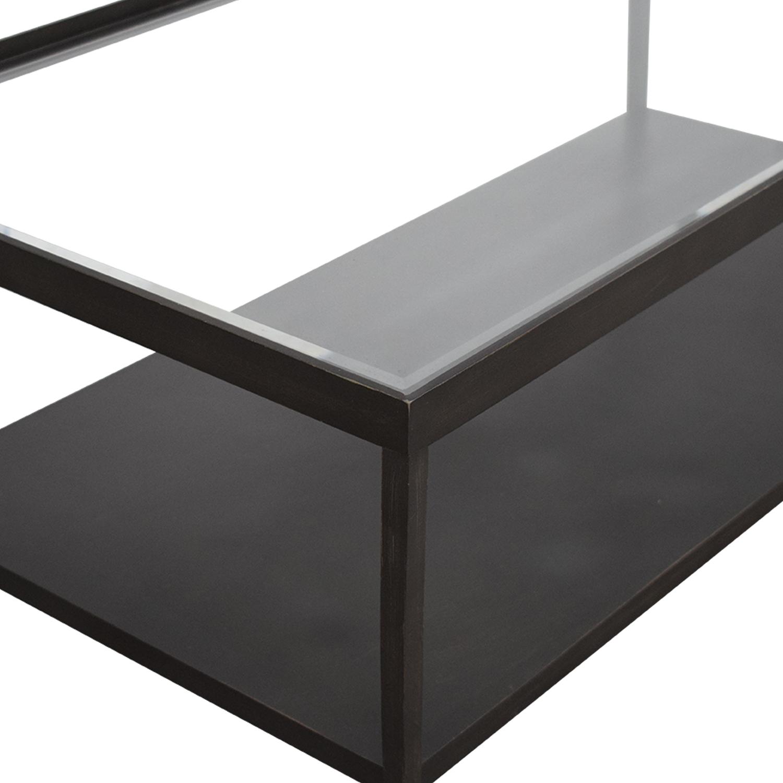 Crate & Barrel Crate & Barrel Transparent Coffee Table nj