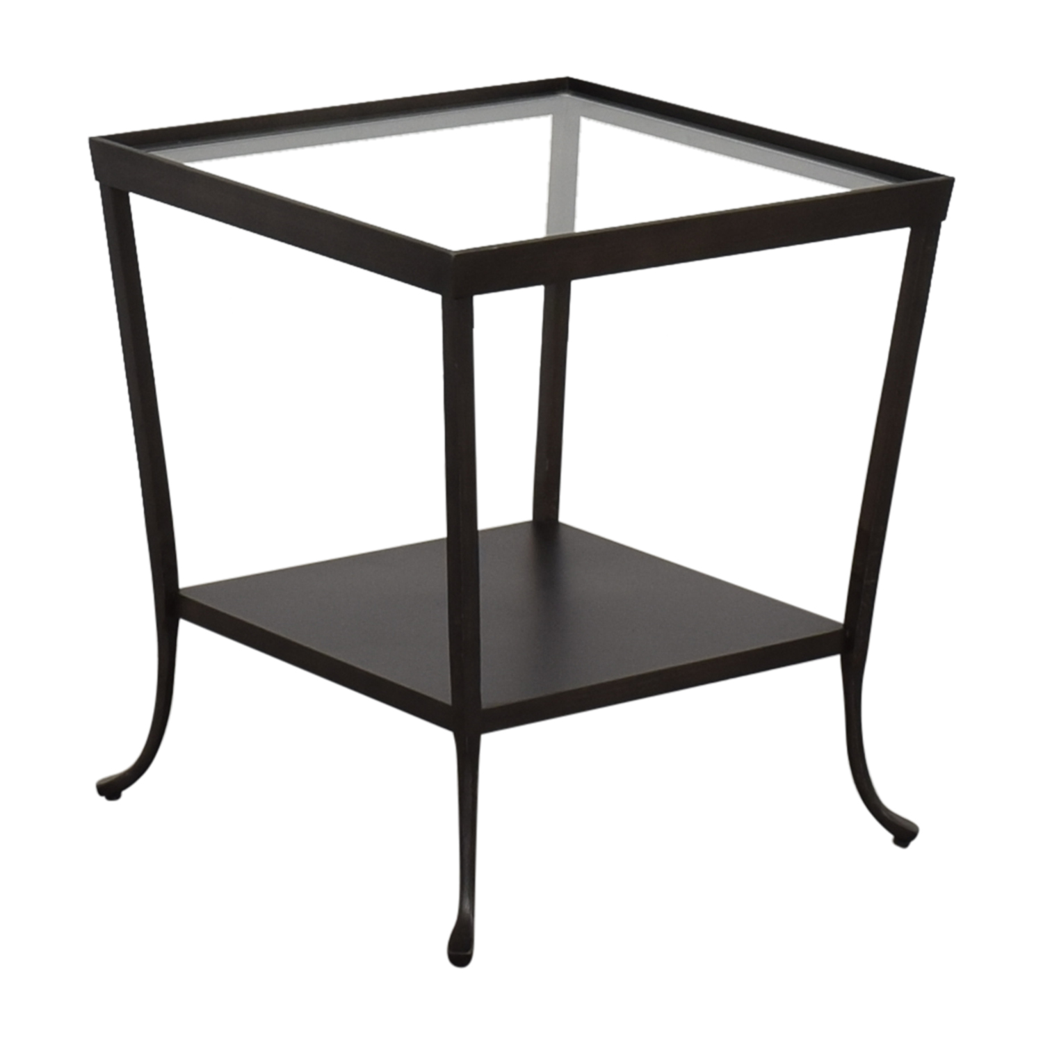 Crate & Barrel Crate & Barrel Side Table clear and black
