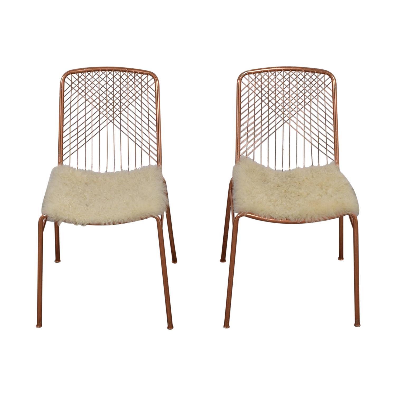 buy CB2 Alpha Brass Dining Chairs CB2