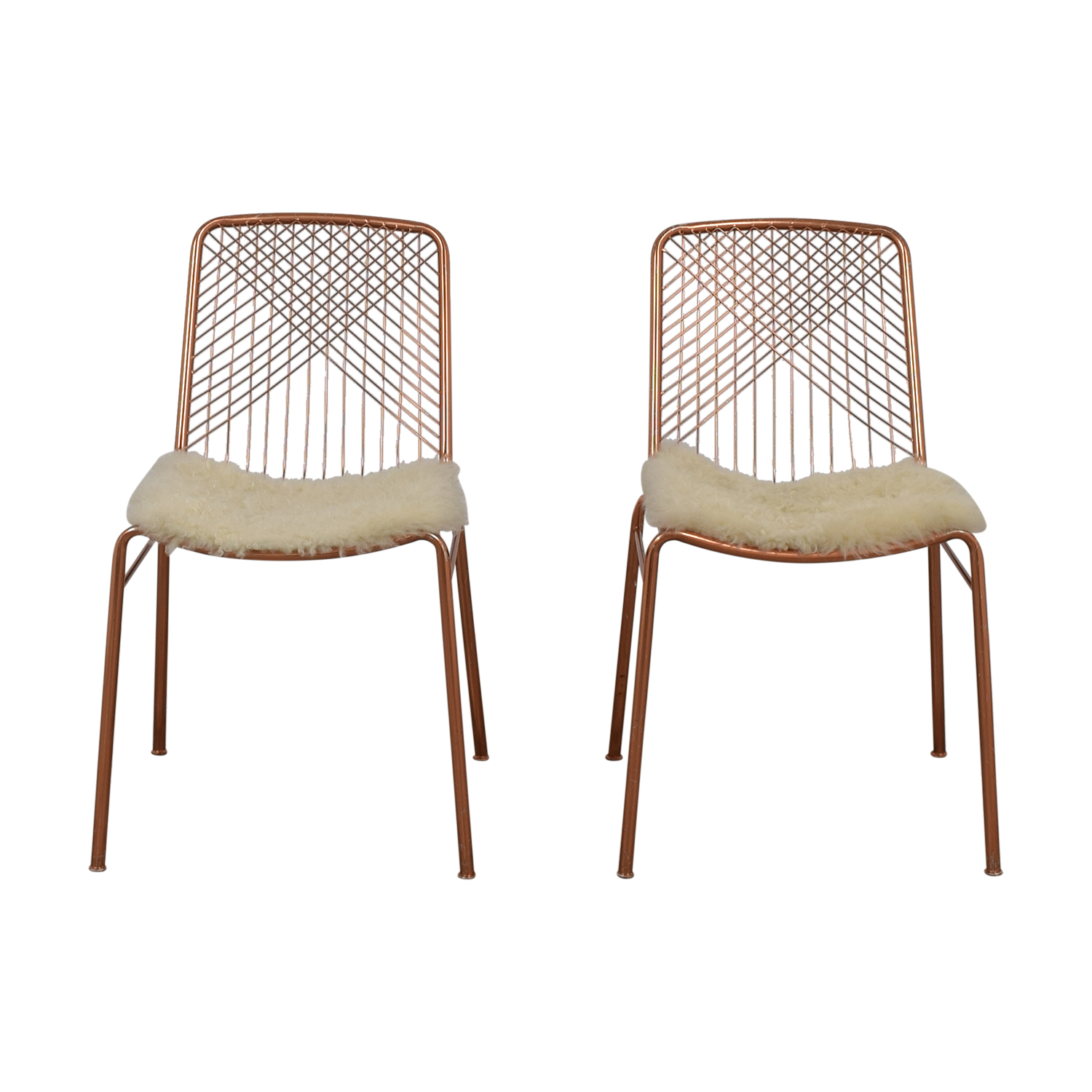 CB2 Alpha Brass Dining Chairs / Dining Chairs