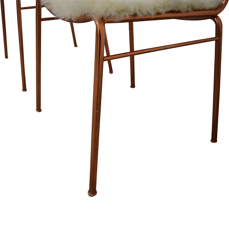 shop CB2 CB2 Alpha Brass Dining Chairs online