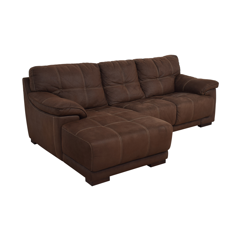 Raymour & Flanigan Microfiber Sectional Sofa / Sofas