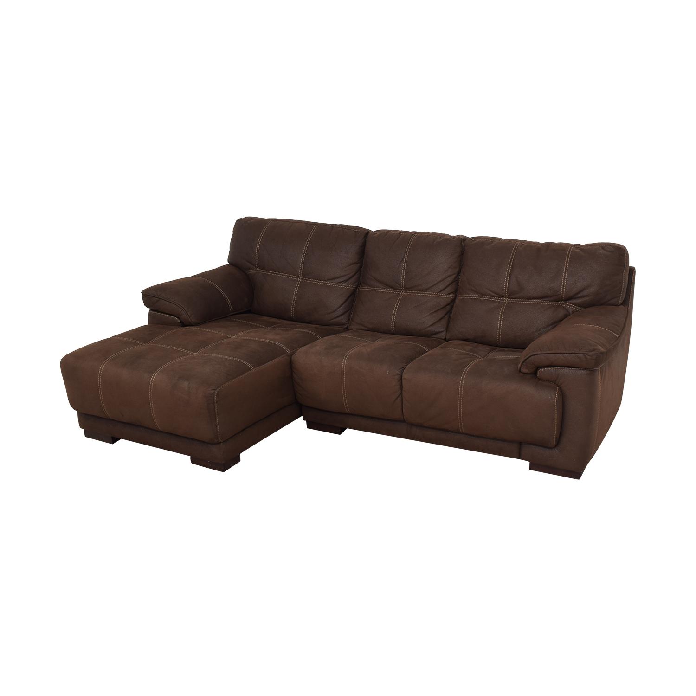 Raymour & Flanigan Raymour & Flanigan Microfiber Sectional Sofa price