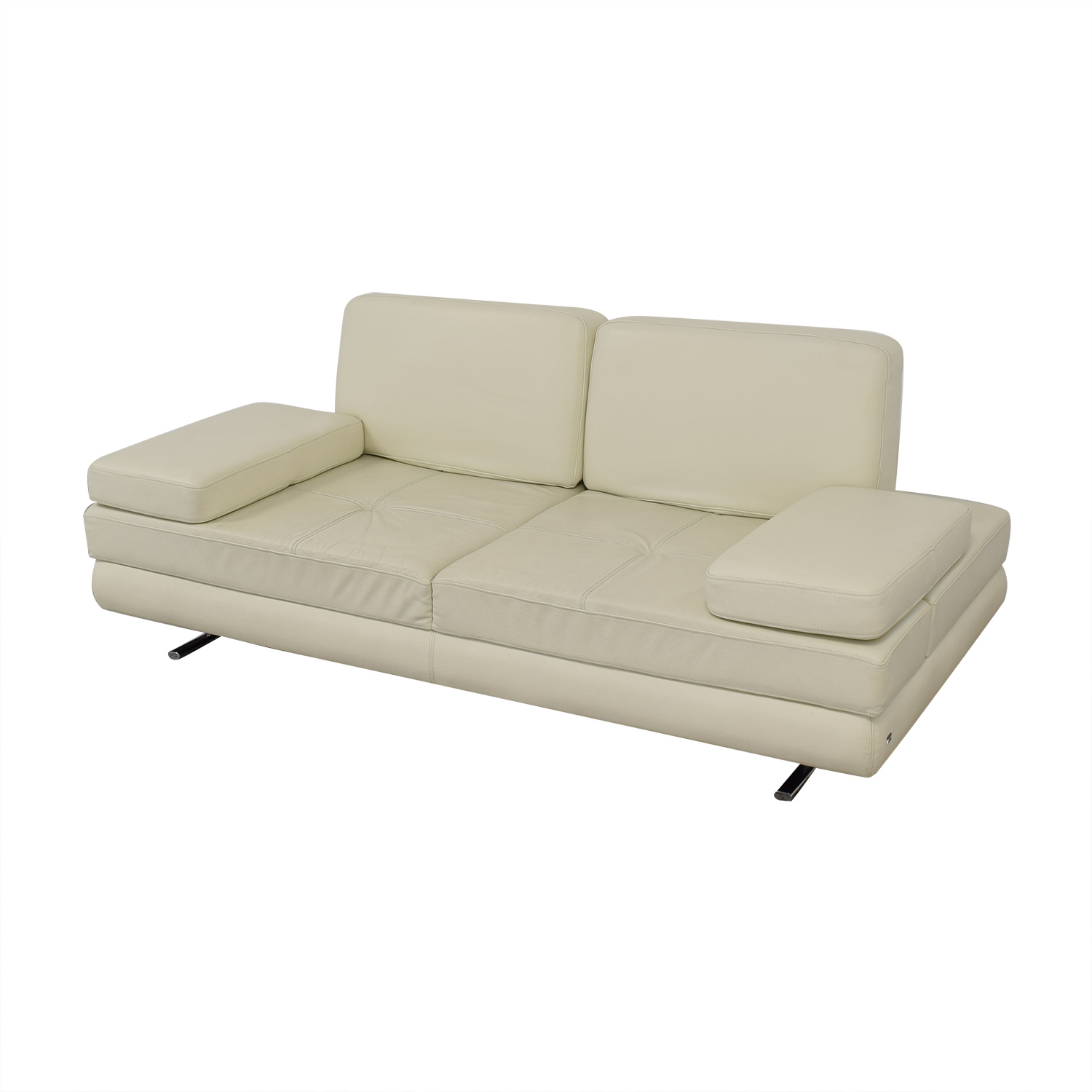 84% OFF - Lazzoni Lazzoni Mony White Full Size Sleeper Sofa / Sofas