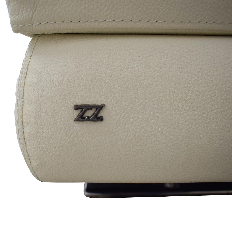 buy Lazzoni Mony White Full Size Sleeper Sofa Lazzoni Sofas