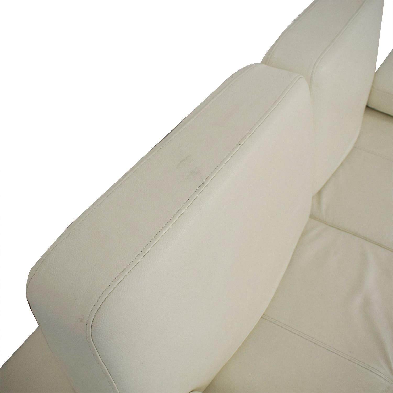 Lazzoni Lazzoni Mony White Full Size Sleeper Sofa on sale