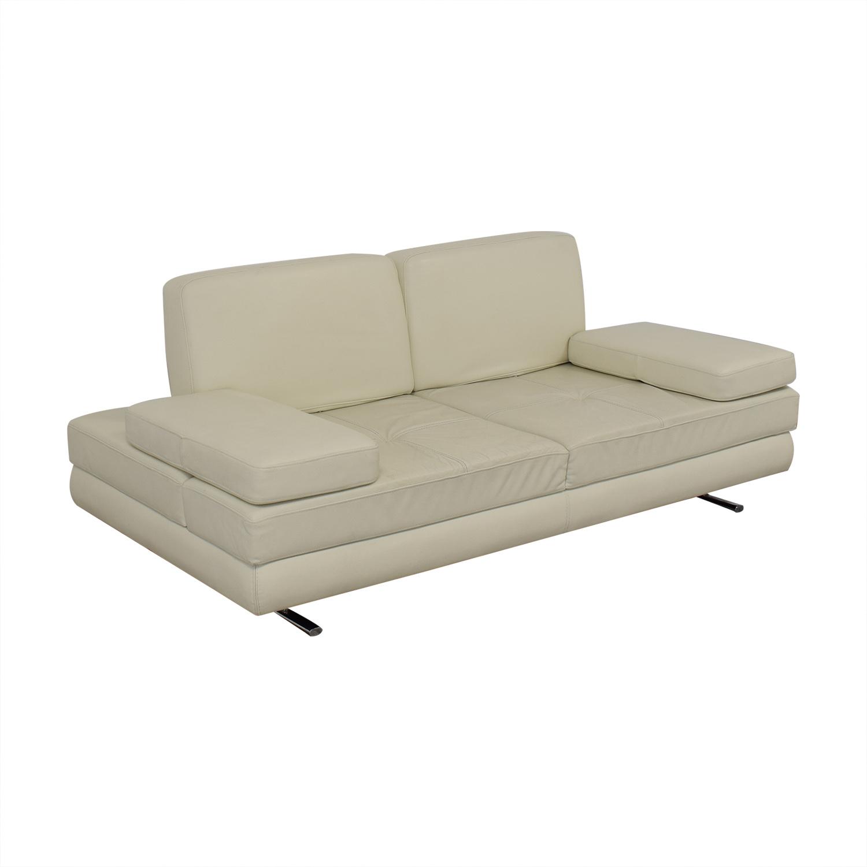 Lazzoni Lazzoni Mony White Full Size Sleeper Sofa used
