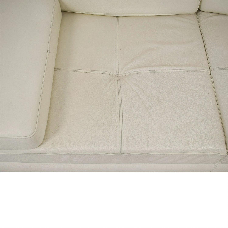 buy Lazzoni Lazzoni Mony White Full Size Sleeper Sofa online