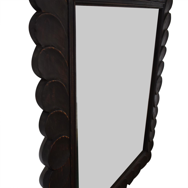 shop Crate & Barrel Feathered Mirror Crate & Barrel Decor