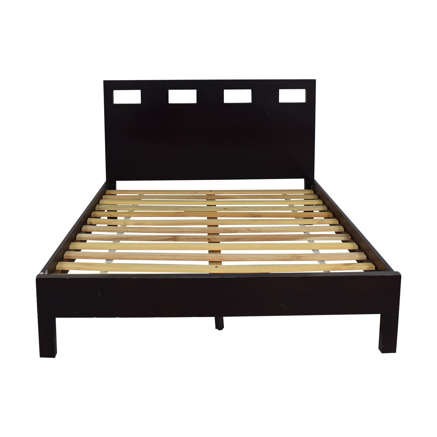 shop Queen Bed Frame with Notched Headboard