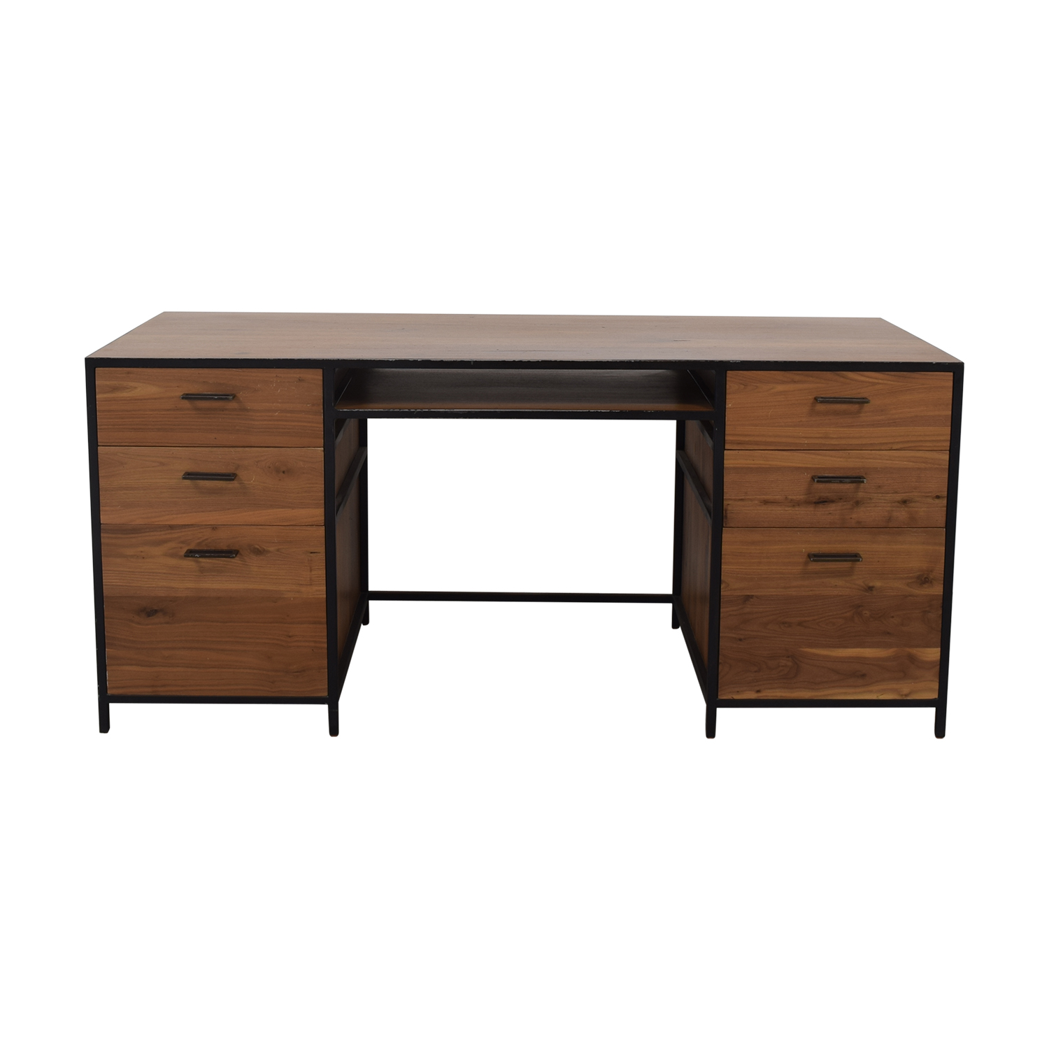 West Elm West Elm Industrial Office Desk dimensions
