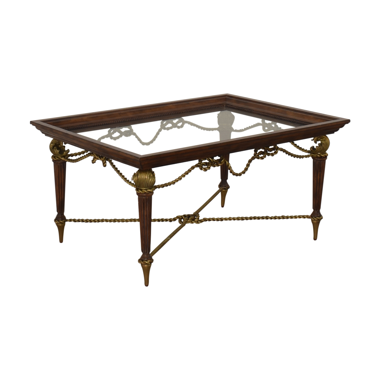 La Barge La Barge Glass Dining Table on sale