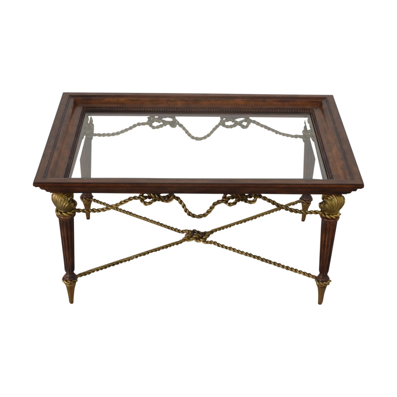 buy La Barge La Barge Glass Dining Table online