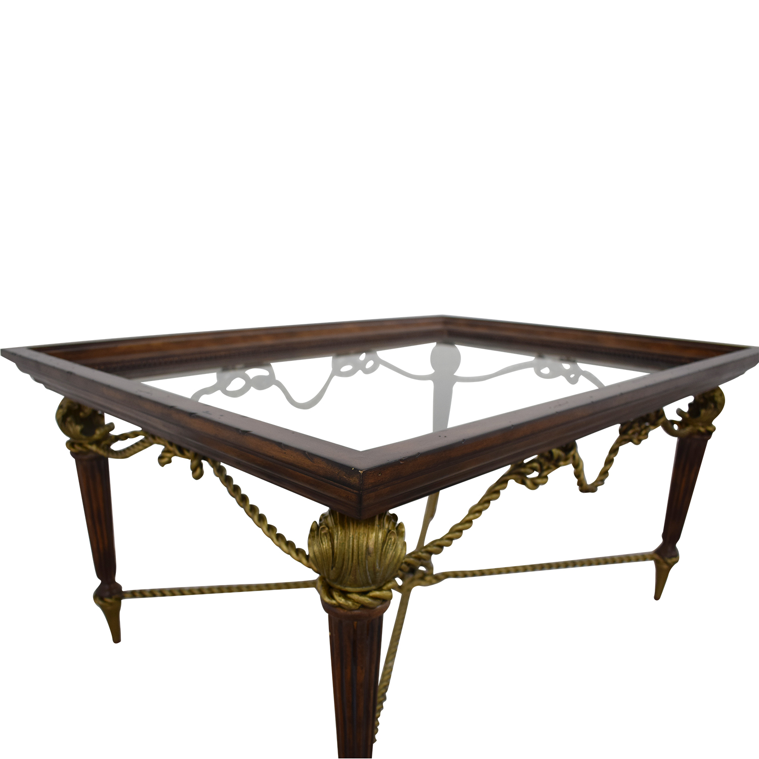 La Barge La Barge Glass Dining Table second hand