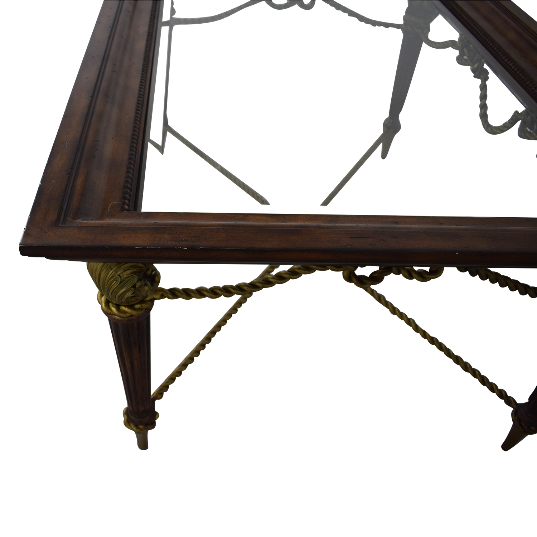 buy La Barge Glass Dining Table La Barge Tables