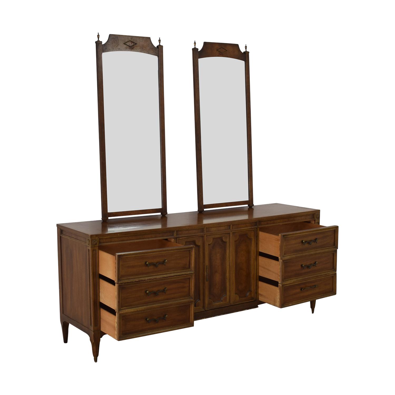 shop American of Martinsville Vintage Dresser with Mirrors American of Martinsville
