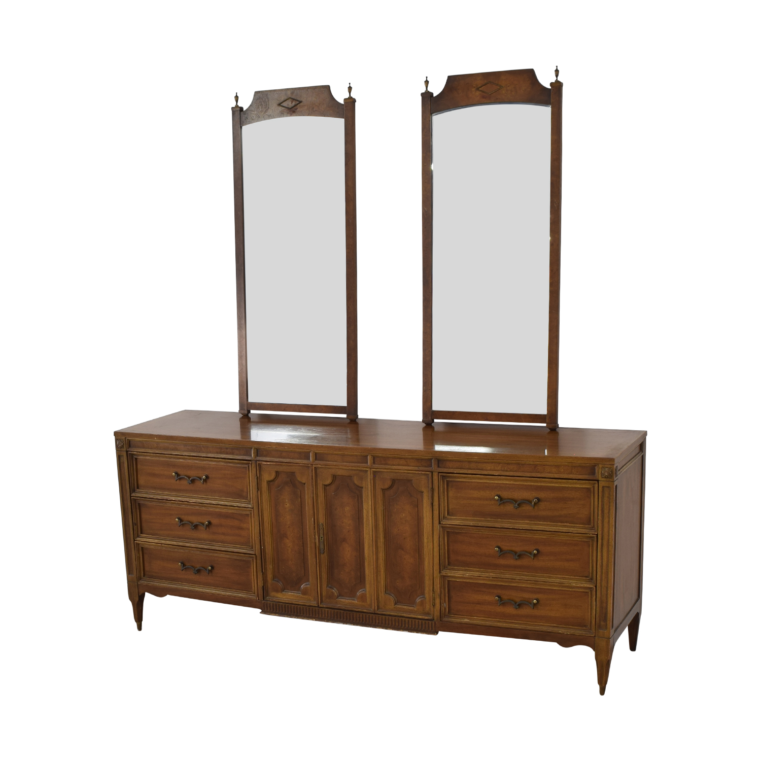 shop American of Martinsville American of Martinsville Vintage Dresser with Mirrors online