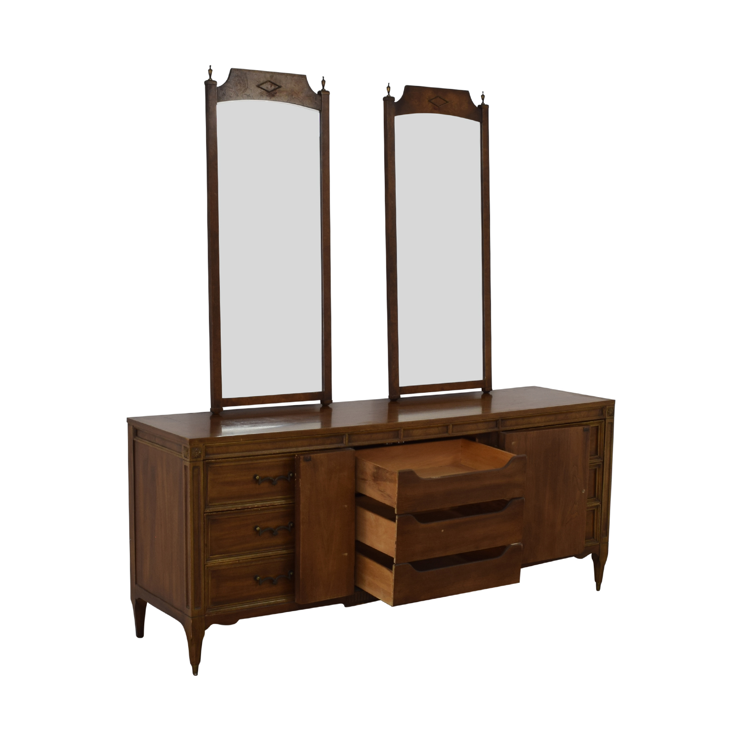 61% OFF - American of Martinsville American of Martinsville Vintage Dresser  with Mirrors / Storage