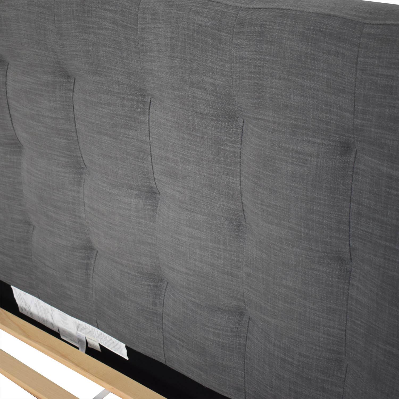 buy West Elm West Elm Grid Tufted Upholstered Tapered Leg Full Bed online