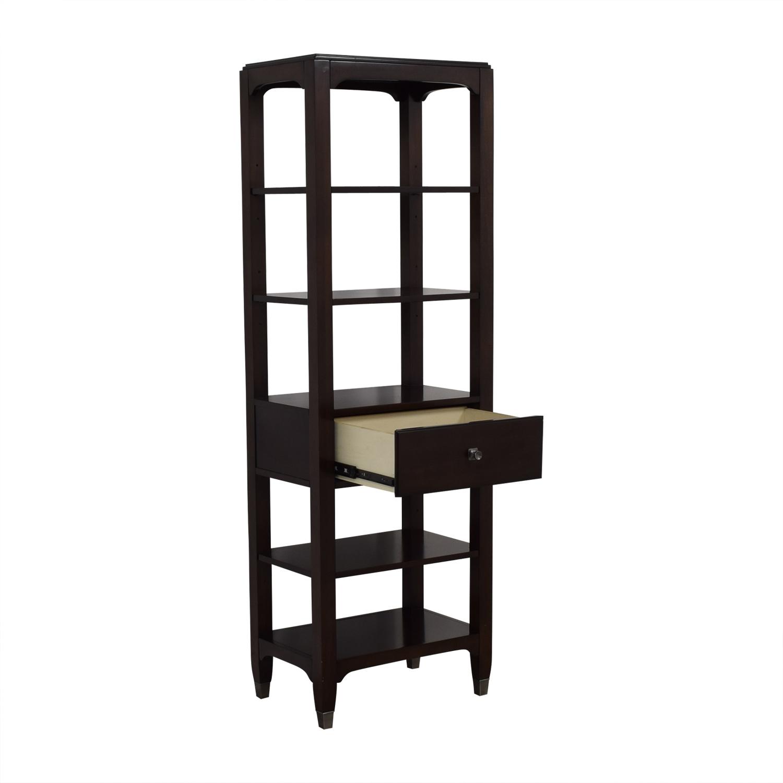 Bassett Furniture Bassett Furniture Tower Shelf with Drawer dimensions