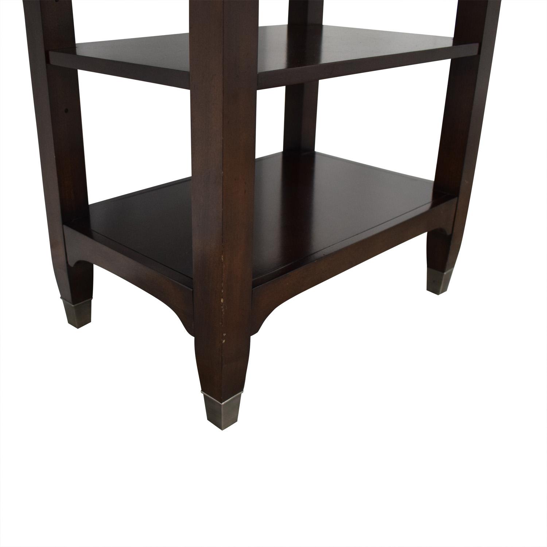 buy Bassett Furniture Tower Shelf with Drawer Bassett Furniture