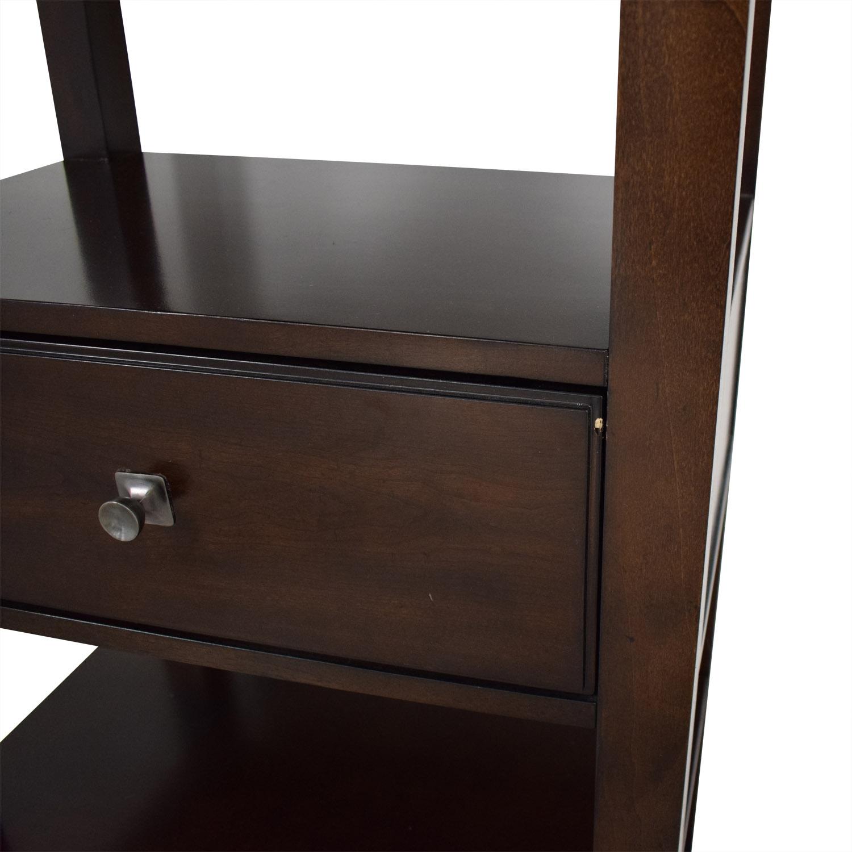 Bassett Furniture Bassett Furniture Tower Shelf with Drawer