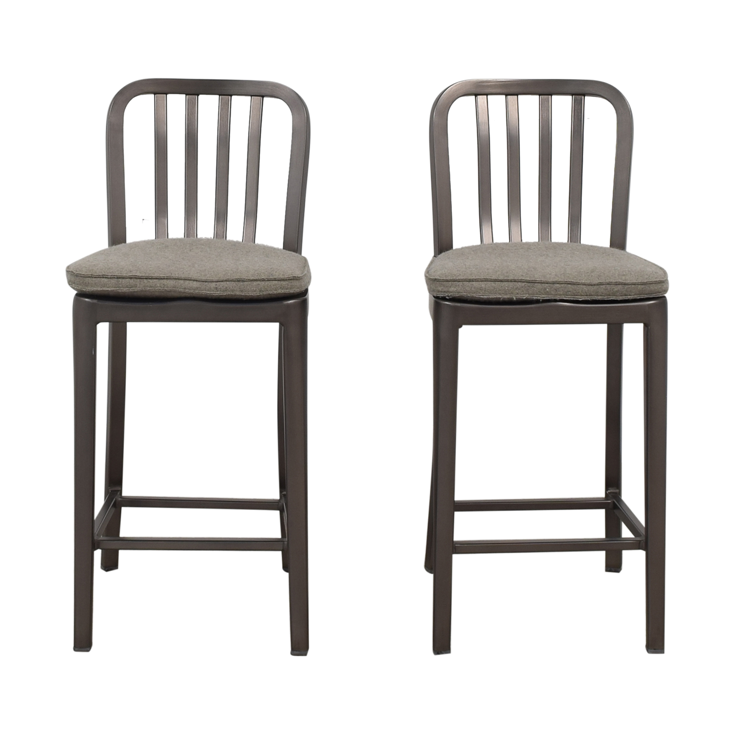 Crate & Barrel Crate & Barrel Delta Counter Stools with Cushion Chairs