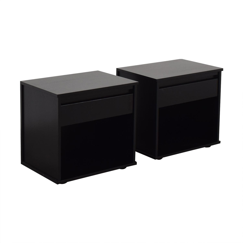 buy Crate & Barrel Oliver Nightstands Crate & Barrel End Tables