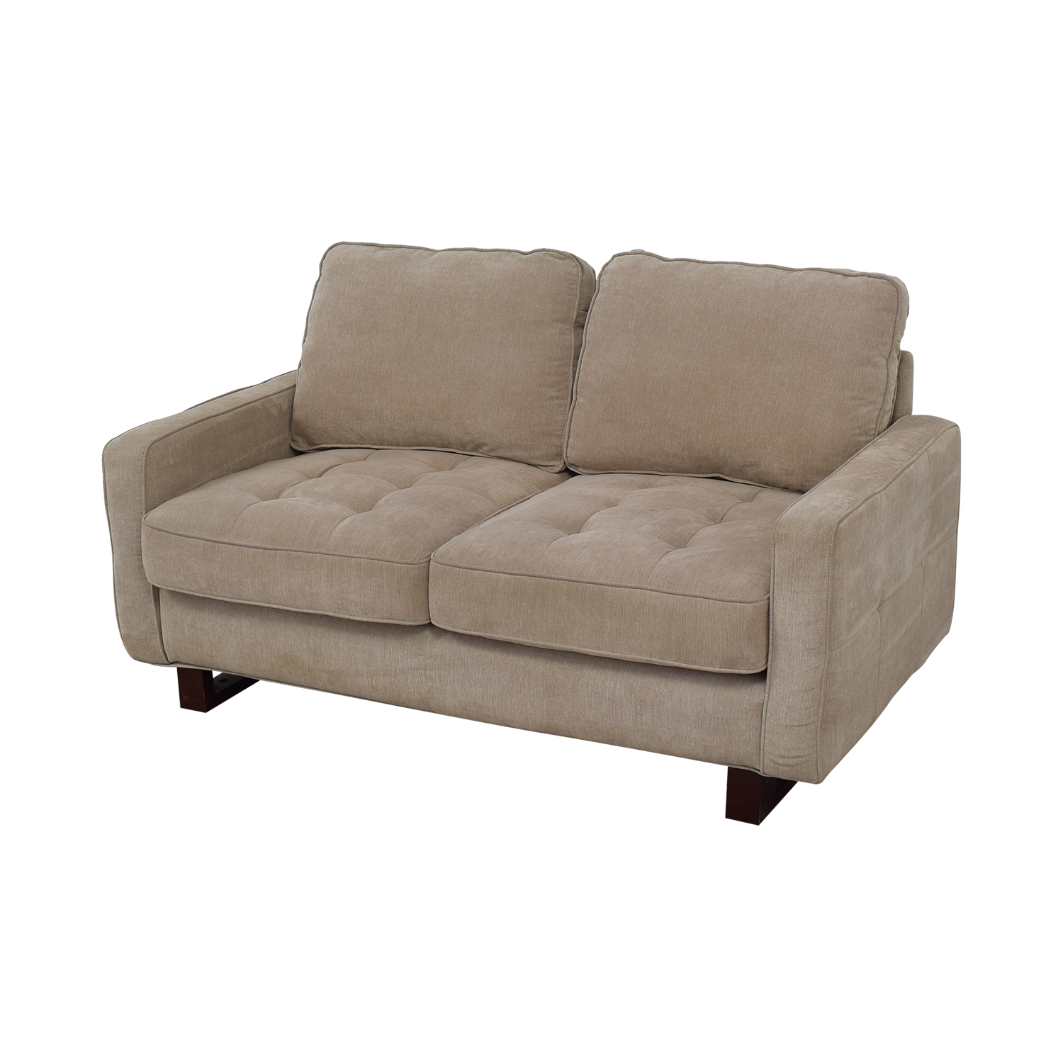 West Elm West Elm Beige Two Cushion Loveseat Sofas