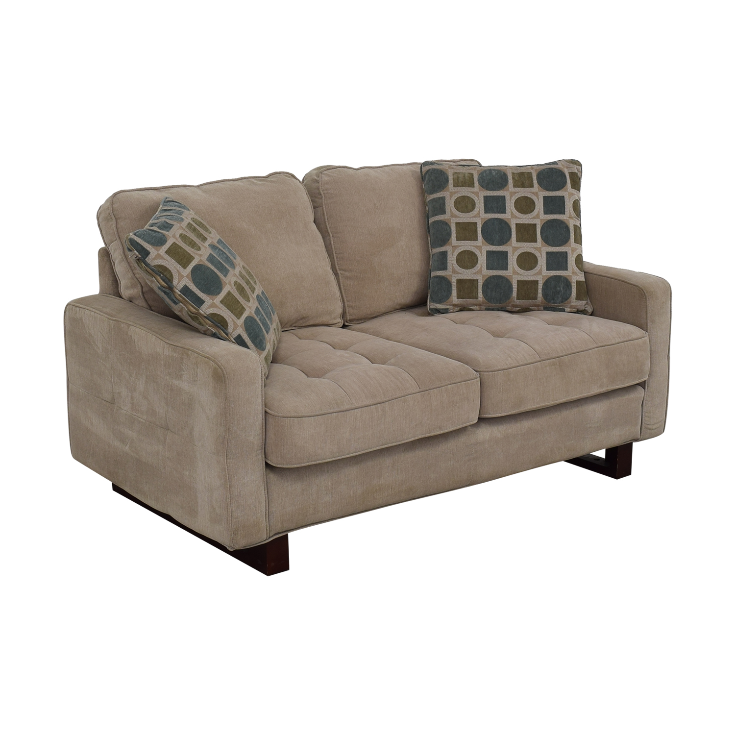 West Elm West Elm Beige Two Cushion Loveseat coupon