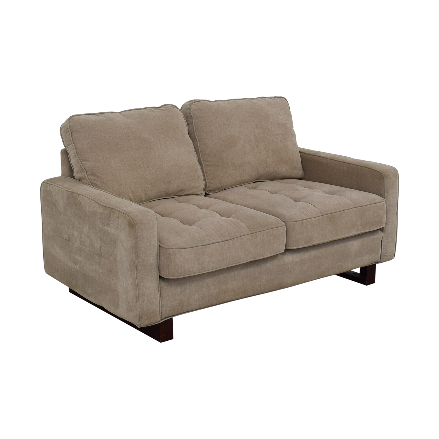 buy West Elm West Elm Beige Two Cushion Loveseat online
