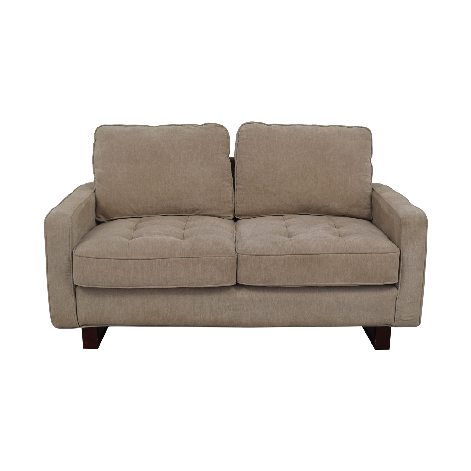 buy West Elm Beige Two Cushion Loveseat West Elm Sofas