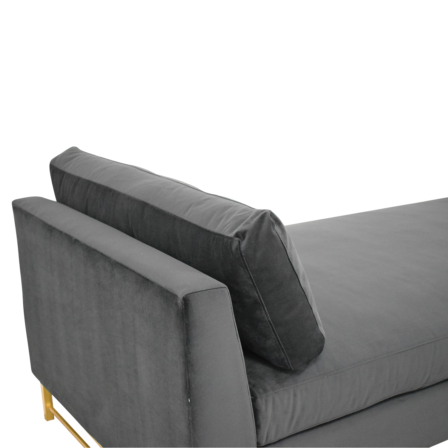 Crate & Barrel Tyson Daybed with Brass Base / Sofas