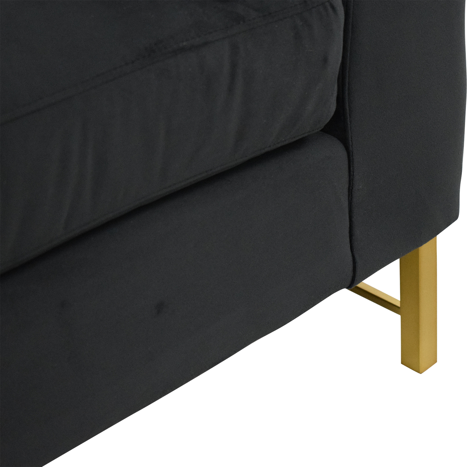 Crate & Barrel Crate & Barrel Tyson Daybed with Brass Base Chaises