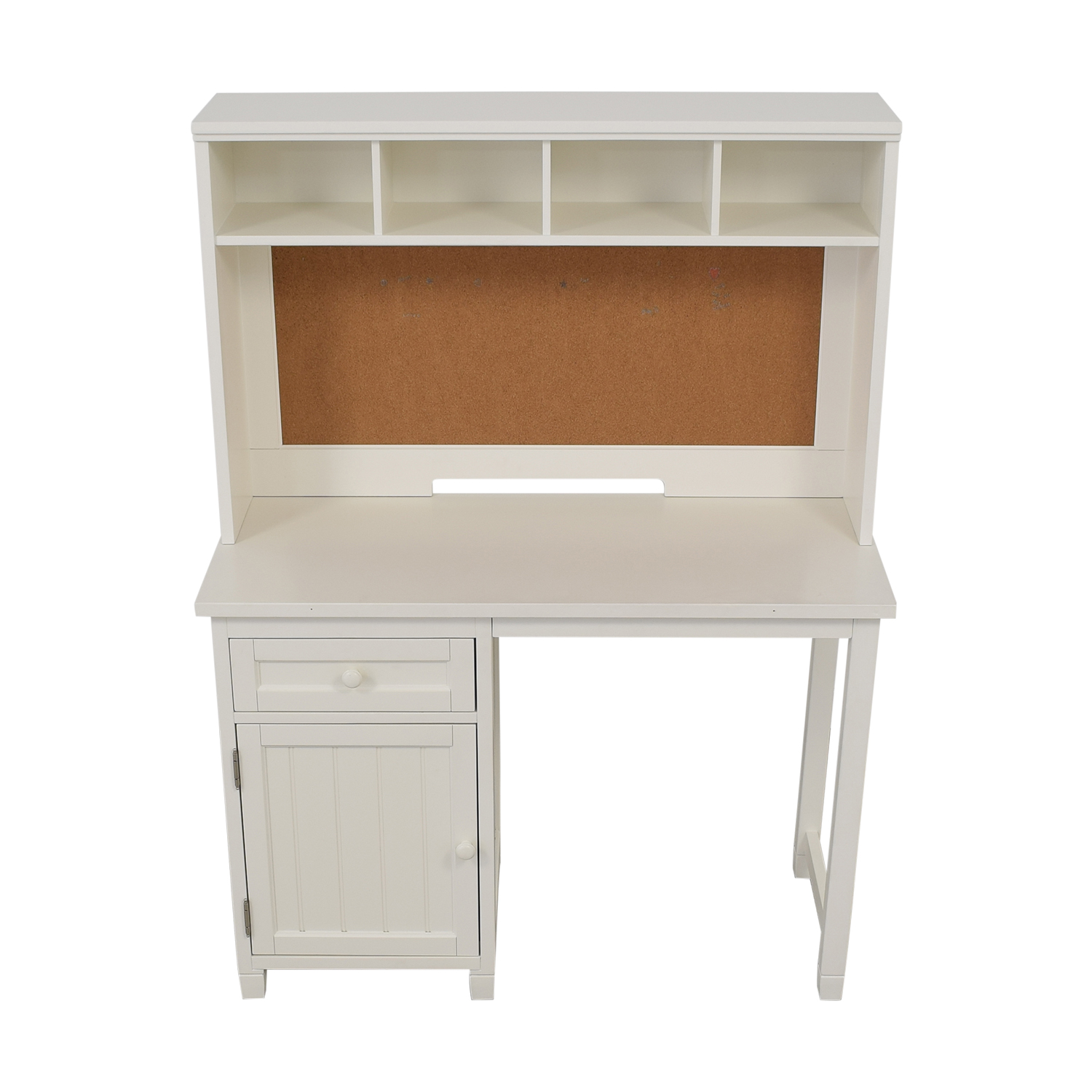Pottery Barn Teen Pottery Barn Teen Beadboard Desk and Hutch white