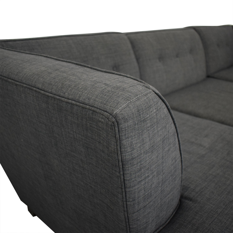 Macy's Jonathan Louis Chaise Sectional Sofa dimensions