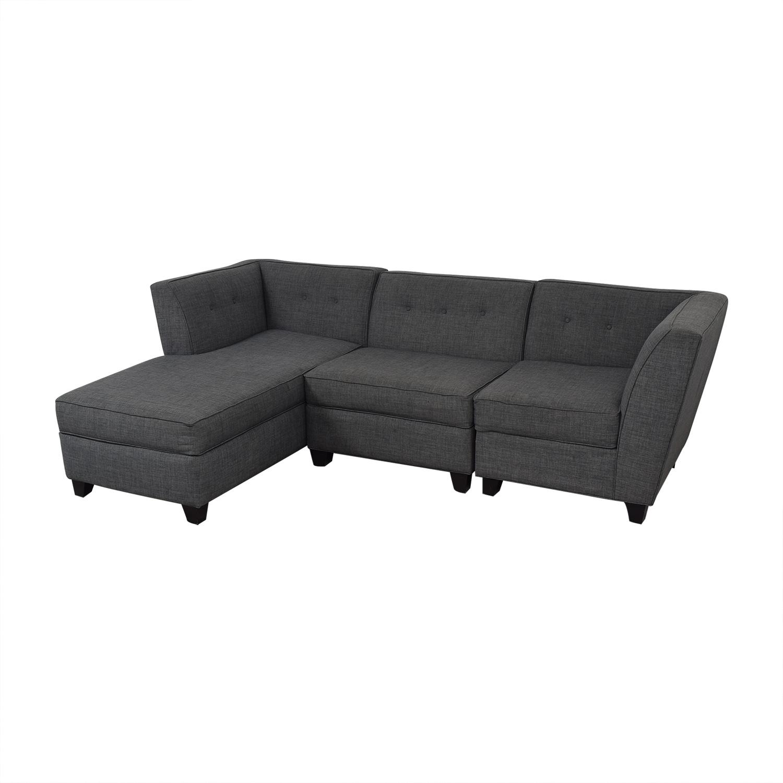 Macy's Jonathan Louis Chaise Sectional Sofa discount