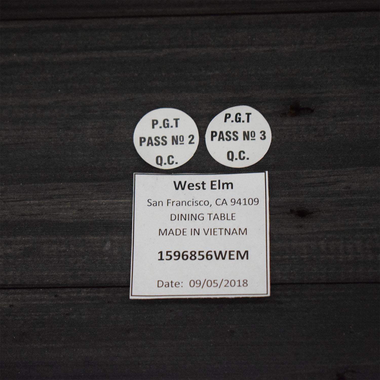 West Elm Black Emmerson Reclaimed Dining Table West Elm