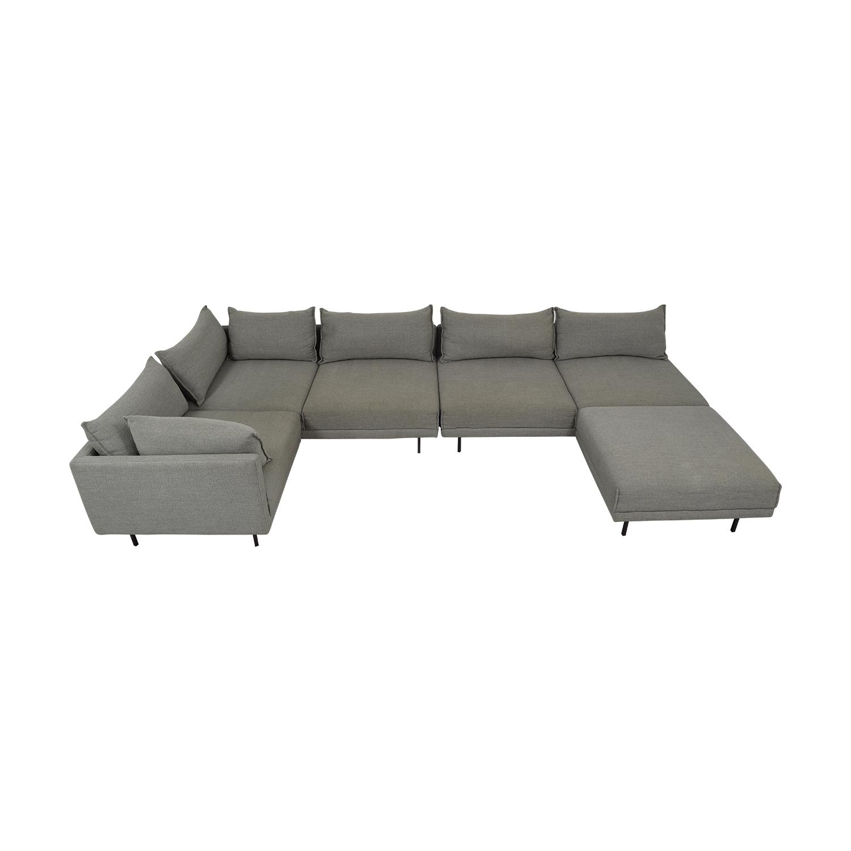 West Elm West Elm Halsey Four Piece Sectional Sofa for sale