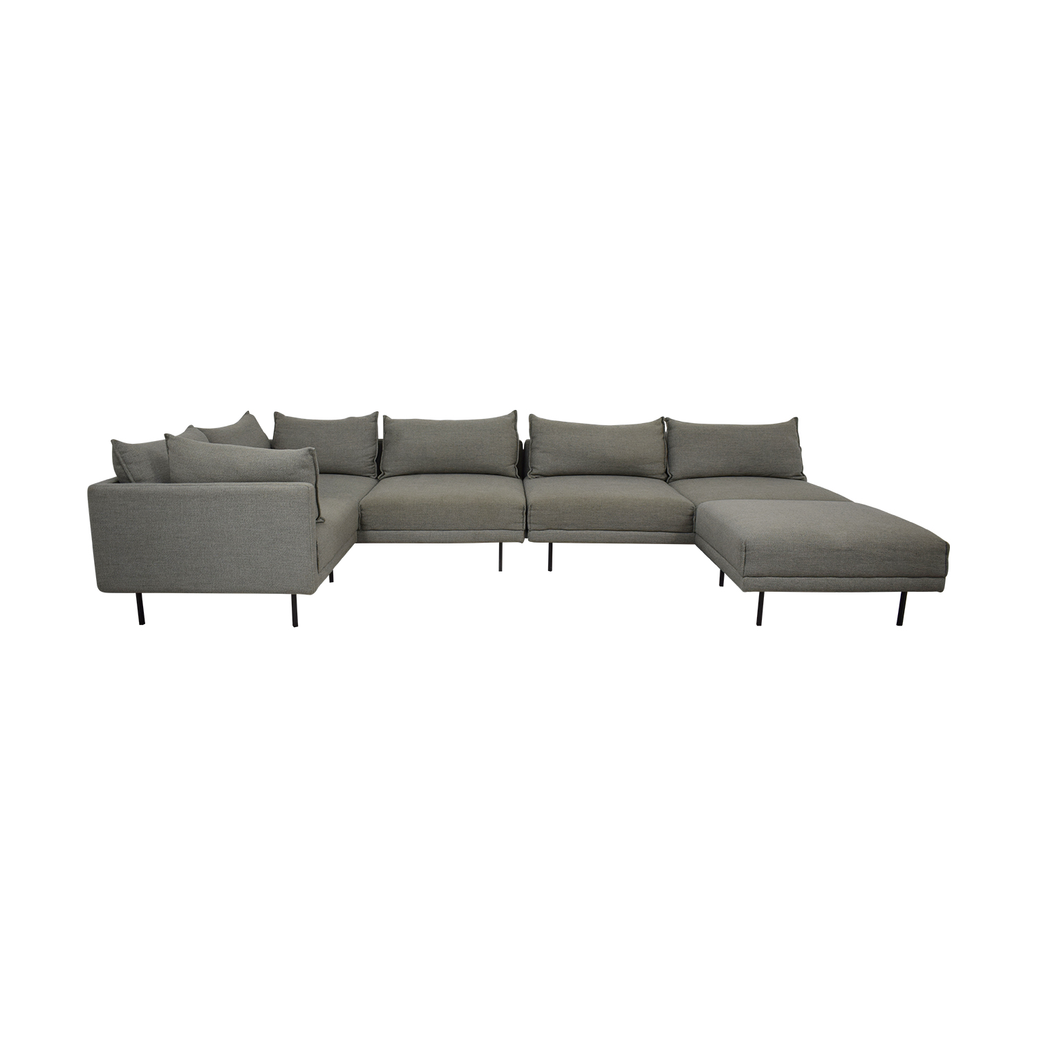 West Elm Halsey Four Piece Sectional Sofa West Elm